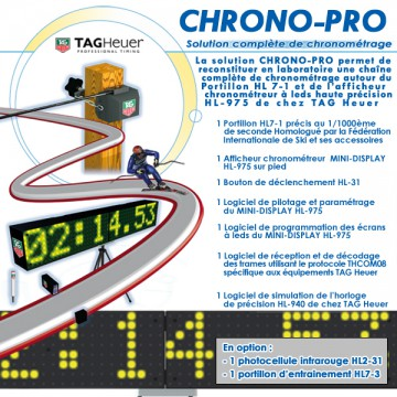 """CHRONO-PRO"" SOLUTION COMPLETE DE CHRONOMETRAGE SPORTIF"