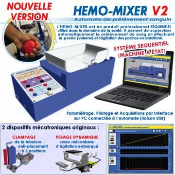 """""""HEMO-MIXER V2"""" AUTOMATE DE PRELEVEMENTS SANGUINS NOUVELLE VERSION"""