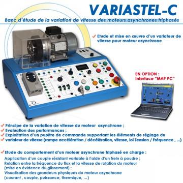 """""""VARIASTEL-C"""" BANC D'ETUDE VARIATEUR DE FREQUENCE MOTEUR"""