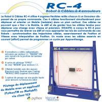 """""""RC-4"""" ROBOT A CÂBLES A 4 ENROULEURS"""