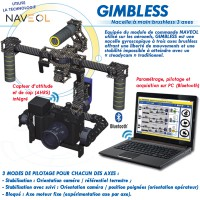 "GIMBLESS"" NACELLE A MAIN BRUSHLESS 3 AXES"